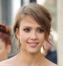 brunette easy hairstyles jessica alba bob short hairstyle flip cute short haircuts jessica
