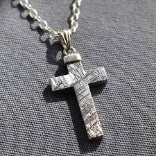 jewelry silver cross necklace images Meteorite and silver cross necklace by martha jackson sterling jpg