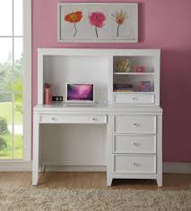 acme 30605 lacey white drawers computer desk with hutch