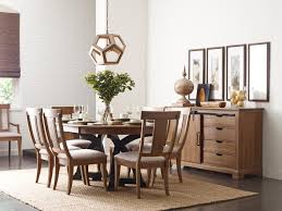 kincaid furniture stone ridge transitional rustic round dining