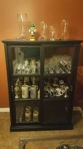 pint glass display cabinet finally got a beer glass display case beer brews brothers