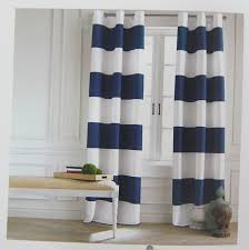 Wide Window Curtains by Tommy Hilfiger Wide Stripes Curtains 2 Panels 50 By 84 Inch Eyelet
