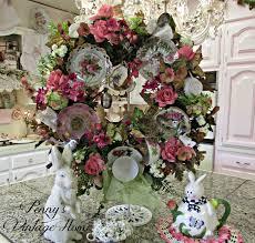 How To Make Wreaths Penny U0027s Vintage Home How To Make A China Tea Cup Wreath