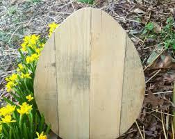 Diy Easter Lawn Decorations easter decor outdoor easter decor 1 large wood easter egg