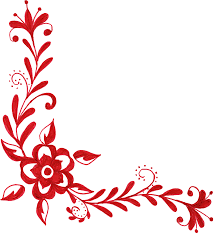 6 flower corner ornament png transparent onlygfx