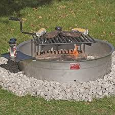 Large Fire Pit Ring by Campfire Rings Series Pilot Rock
