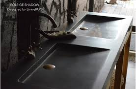 black countertop with black sink 160x50cm double trough basin uk black granite bathroom sink folege