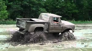 big black ford truck 4x4 mudding