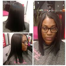 sew in bob marley hair in ta middle part sew in natural look with light body waves hair by