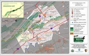 Blue Ridge Mountains Map Maps Kittatinny Ridge
