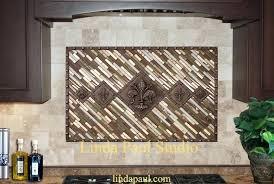kitchen backsplash metal medallions metal accent tiles backsplash metal accent tiles for kitchen