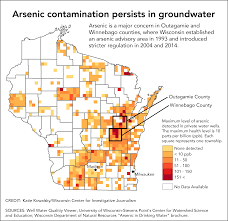 Wisconsin Usa Map by Despite State Efforts Arsenic Continues To Poison Many Private
