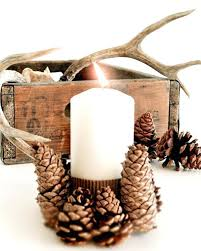 pine cone tea light holder pine cone candle holder decorating with cones for the holidays is