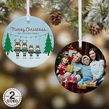 personalized reindeer family photo ornament gifts