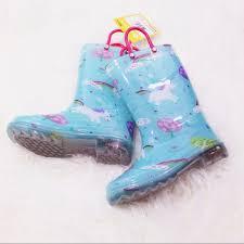 light up rain boots members mark shoes last 2new girls light up unicornrain boots
