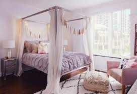Bohemian Bed Frame Bedrooms A Cozy Bohemian Nook With White Curtains Around The Bed
