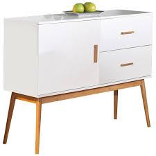 commode design chambre meuble design commode design vintage coloris blanc et bambou achat