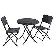 Outdoor Furniture Amazon by Amazon Com Giantex 3pc Folding Round Table U0026 Chair Bistro Set