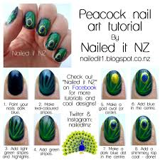 nail art for short nails tutorial 11 peacock nails