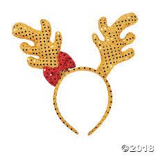 reindeer antlers headband sequin reindeer antler headband