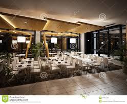 modern restaurant interior view stock illustration image 22517728