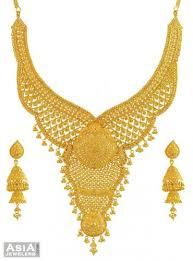 gold wedding necklace set images 22k yellow gold bridal necklace set ajst55081 us 6 339 22k jpg