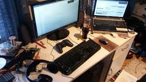 show us your gaming desk setup here u0027s ours gamingonlinux