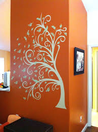 burnt orange and cream dining room behr marmalade glaze cracked