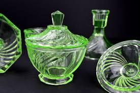Dressing Table Sets Vintage Green Glass Vanity Set Vintage Dressing Table Set Vintage