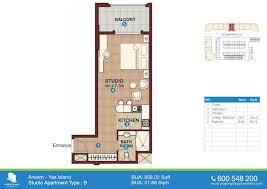 Shop Apartment Floor Plans Ansam Yas Island