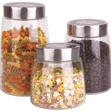3 piece kitchen storage jars price crunchers