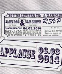 Movie Ticket Wedding Invitations These Movie Ticket Wedding Invites And Rsvp Cards Would Be Fit For