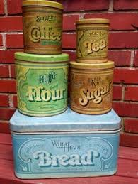 tin kitchen canisters vintage green tin and faux wood mid century kitchen canister set