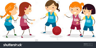 basketball with friends clipart