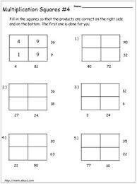 math worksheets multiplication magic squares
