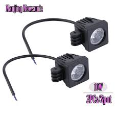 2 inch led spot light 2x 10w led spot beam work lights square 2 inch spotlights for auto