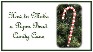 how to make a paper bead candy cane ornament youtube