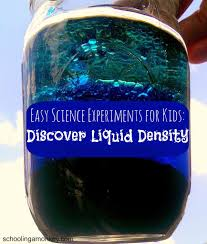 easy science experiments for kids discover liquid density