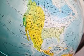 us map globe united states map on a globe stock image image 41480599