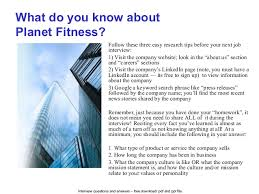 planet fitness interview questions and answers