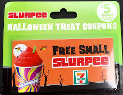 7 eleven 5 for 20 free small slurpee halloween treat coupons