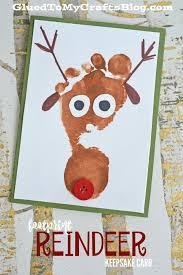 footprint reindeer keepsake card footprints keepsakes and craft