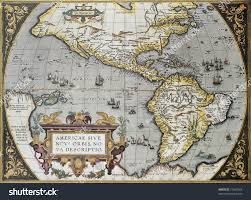 Old Map America Old Map Theatrum Orbis Terrarum Stock Photo 77962564