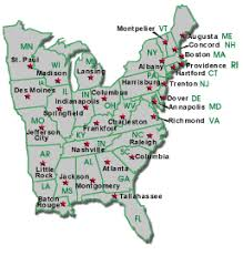 map of usa states and capitals and major cities map us eastern seaboard major tourist attractions maps