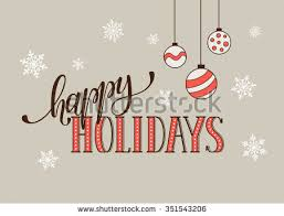 happy holidays postcard template modern new stock vector 351543206