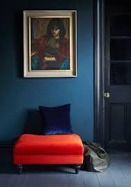 blue interior with jewel tones via arlo u0026 jacob dark petrol blue