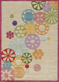 Kids Rugs For Sale by Hipster Flowers Rug In Ivory Rosenberryrooms Com