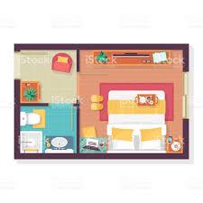 Bathroom Floor Plans Free Bedroom And Bathroom Floor Plan Top View Furniture Set Stock