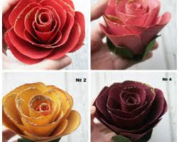 Wooden Roses Wood Flowers Etsy