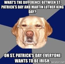 Martin Luther King Day Meme - what s the difference between st patrick s day and martin luther